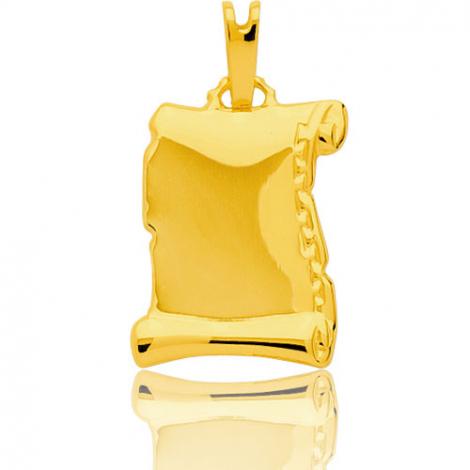 Pendentif parchemin or jaune  Or Jaune Silvia - 2912.3