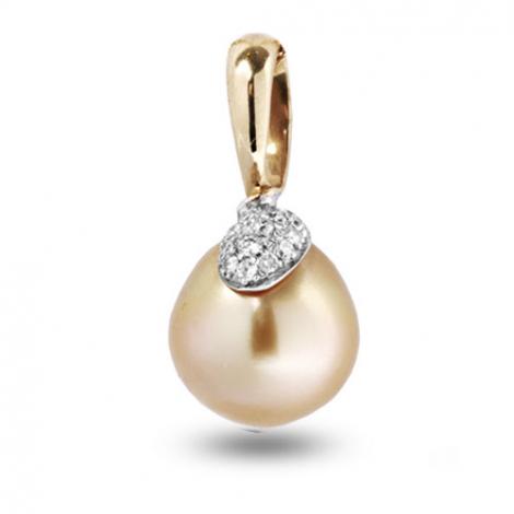 Pendentif perle blanche Chizuko 12 mm