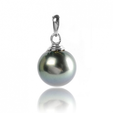 Pendentif perle de Tahiti 13-14 mm Tahiata- PE03131415-B