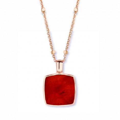 Pendentif quartz et rubis sur nacre One More  - Pantelleria - 051403R2