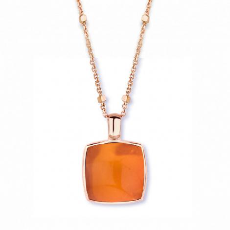 Pendentif quartz sur agate orange One More  - Pantelleria - 051403H1