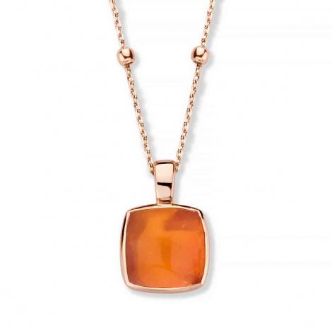 Pendentif Quartz sur Agate orange - One More  - Pantelleria - 052797H1