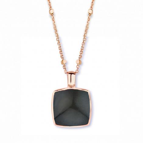 Pendentif quartz sur obsidienne arc en ciel One More  - Pantelleria - 051403L1