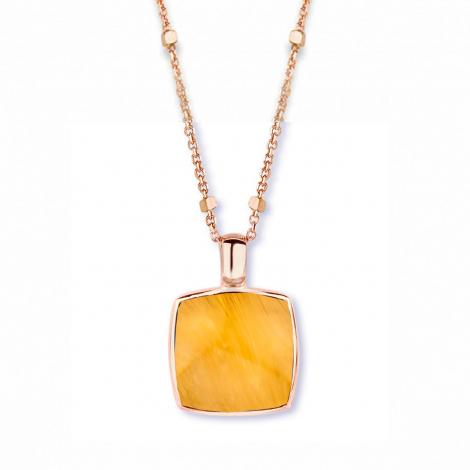 Pendentif quartz sur oeil de tigre jaune One More  - Pantelleria - 051403K