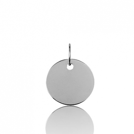 Pendentif rond or blanc Or Blanc Débora - 9KV8GR