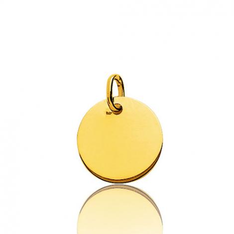 Pendentif rond or jaune plané épais Or Jaune Manon - V6.3