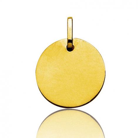 Pendentif rond or jaune plané épais Or Jaune Marya - V5.3