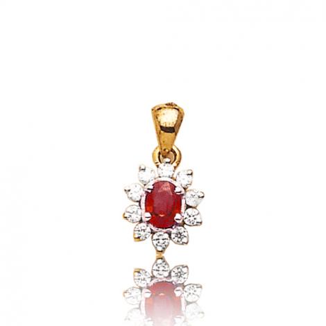Pendentif rubis diamant Ania - PE 1707-RU