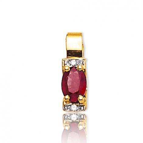Pendentif rubis diamant Barbara - PE3305-RU