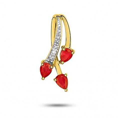Pendentif rubis diamant Carla - MV135BRB5