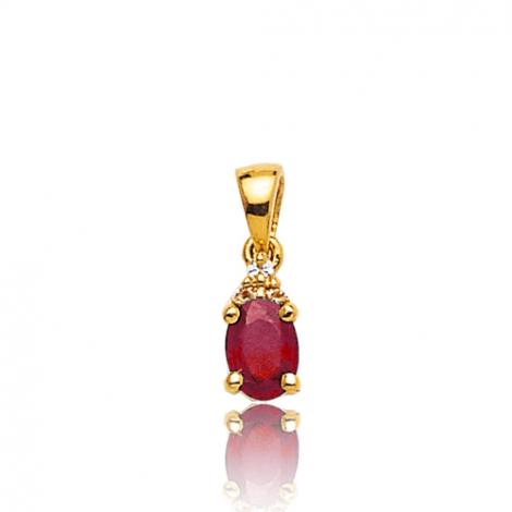 Pendentif rubis diamant Cienna - PE 3246-RU