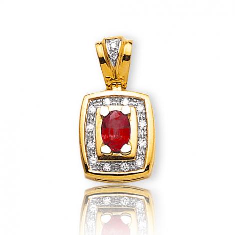 Pendentif rubis diamant Cléa - PE 2065-RU