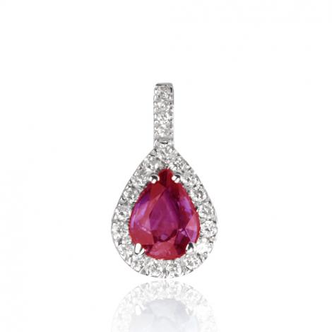 Pendentif rubis diamant Diana - PE4271-RU