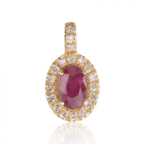 Pendentif rubis diamant Eugénie - PE4444-R