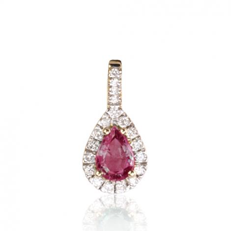Pendentif rubis diamant Féerique - PE4270-RU