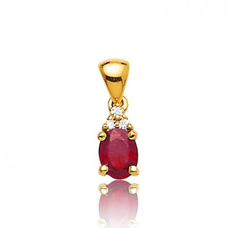Pendentif rubis diamant Larisa - PE 3247-R