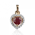 Pendentif rubis diamant Lauriane - PE4403-R