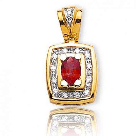 Pendentif rubis diamant Léanne - PE 2066RU