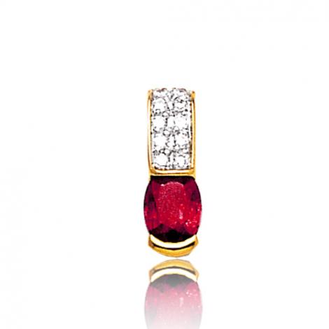 Pendentif rubis diamant Lisa - PE3195-R