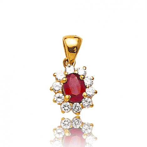 Pendentif rubis diamant Mélodie - PE 1866-RU