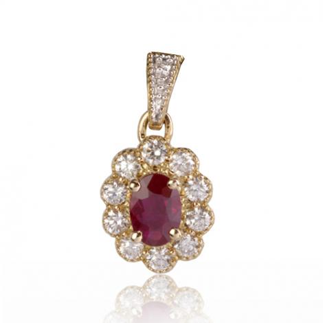 Pendentif rubis diamant Salome - PE4456-RU
