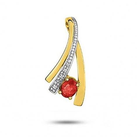 Pendentif rubis diamant Titania - MA144BRB5