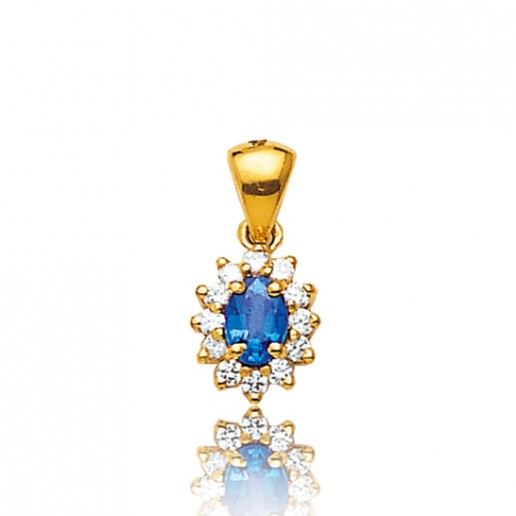 Pendentif saphir diamant Alexane -PE 1867SA