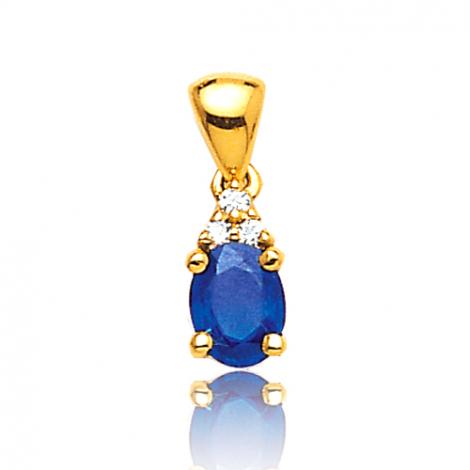 Pendentif saphir diamant Anaève -PE3247-S