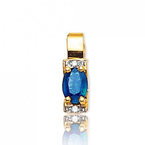 Pendentif saphir diamant Camille -PE3305-SA