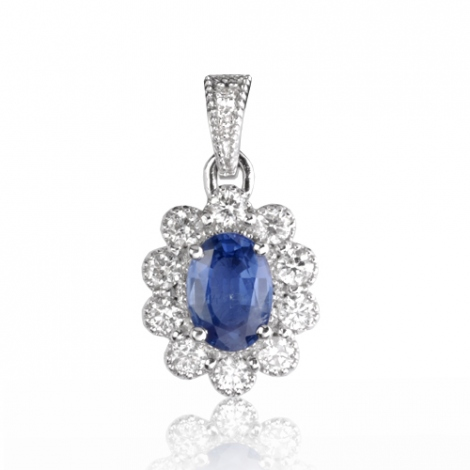 Pendentif saphir diamant Isis -PE4456-SA