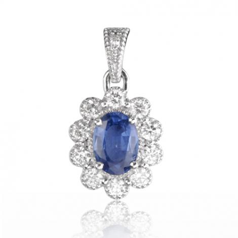 Pendentif saphir diamant Ivanna -PE4457-S