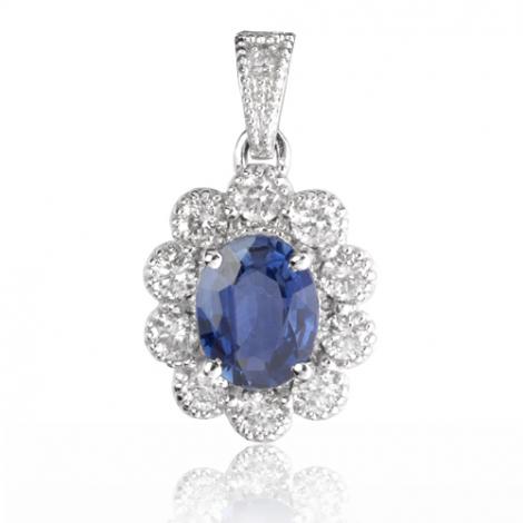 Pendentif saphir diamant Julia -PE4458-S