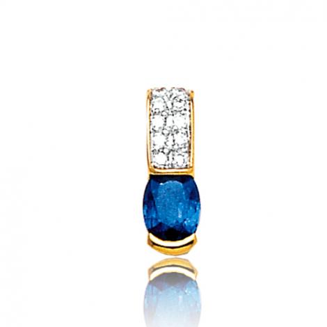 Pendentif saphir diamant Kristina -PE3195-S