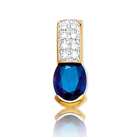 Pendentif saphir diamant Lisa -PE3196