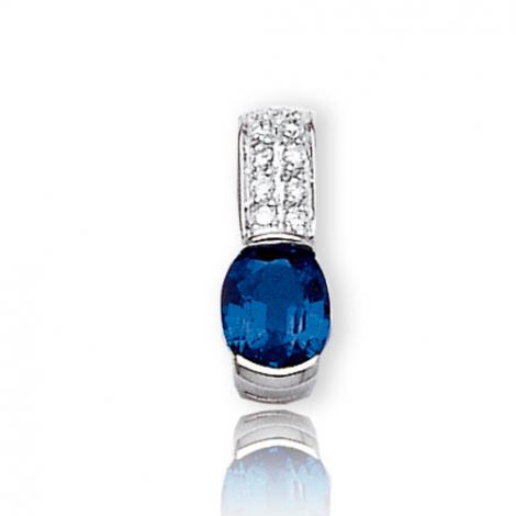 Pendentif saphir diamant Marjorie -PE3194-SA