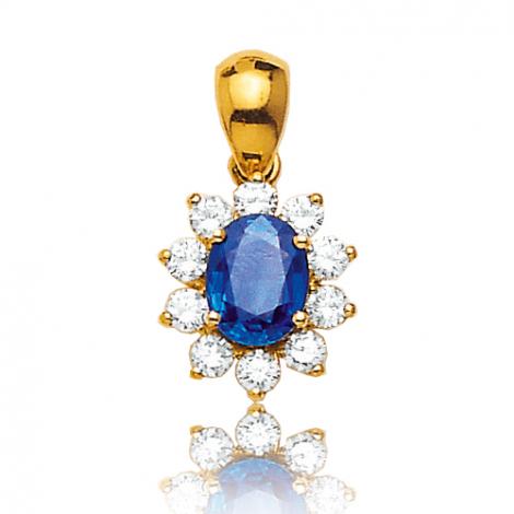 Pendentif saphir diamant Valeria -PE 3251