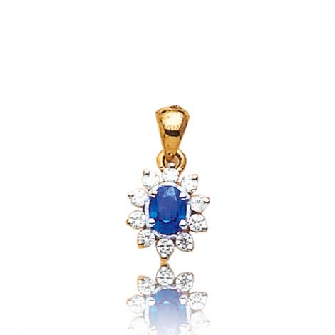 Pendentif saphir diamant Zoélie -PE1707-SA