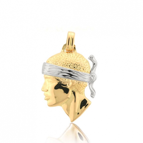 Pendentif tête de Maure deux ors 2 Ors Marianna - PT2BG