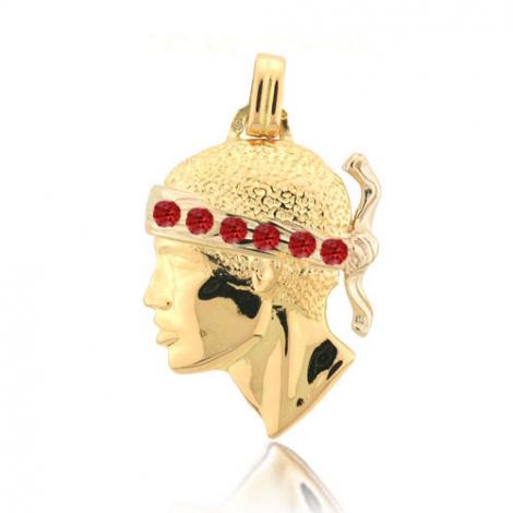 Pendentif tête de Maure rubis Or Jaune Merveille - PT3R