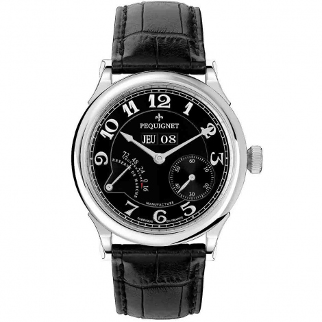Pequignet Montre Paris Royal Automatique Cadran Noir Opalin - 9000443FCN