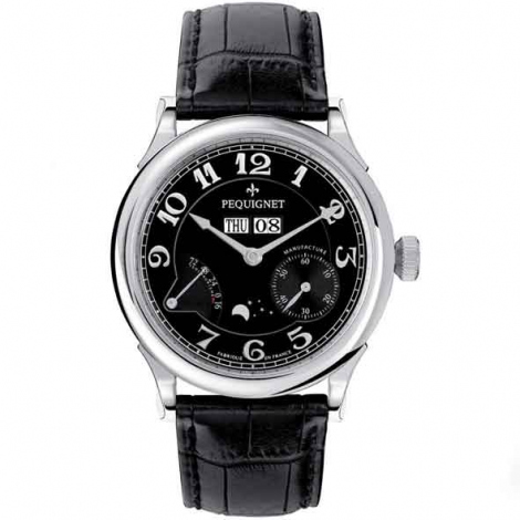Pequignet Montre Paris Royal Automatique Cadran Noir Opalin - 9007443FCN