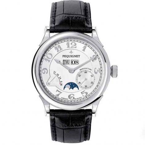 Pequignet Montre Paris Royal Automatique Cadran Opalin argenté - 9007433FCN