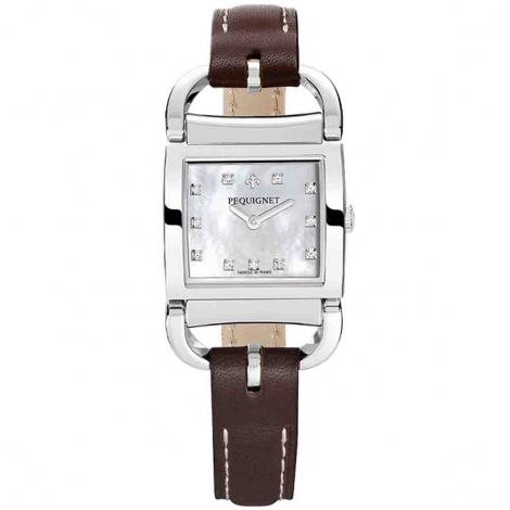 Pequignet Montre Pequignet Attellage Quartz Cadran Nacre Blanc - 5894503/1