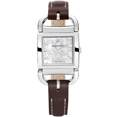 Pequignet Montre Pequignet Attellage Quartz Cadran Nacre Blanc - 5894503