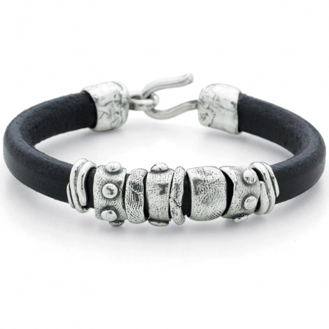 Platadepalo Bracelet Cuir Collection Canalla Noir- C01 - L4A