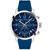 Quartz Cadran Bleu Bracelet Silicone - T114.417.17.047.00