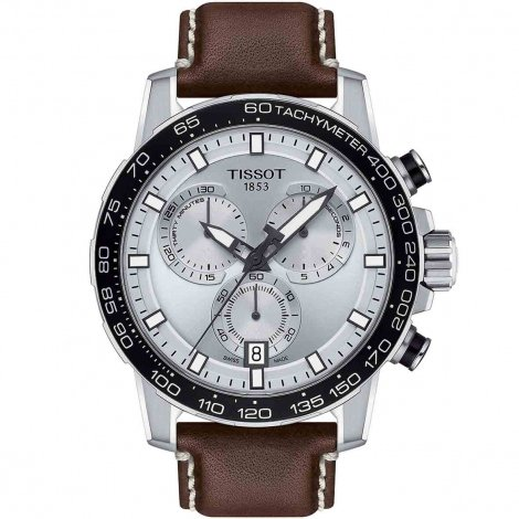 Tissot Supersport Chrono Quartz Cadran Gris Bracelet Cuir - T125.617.16.031.00