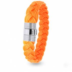 Albanu - Bracelet en Cordon Marin Orange Fluo - 6 mm - Lola - 608TCMACN12