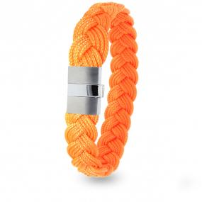 Albanu - Bracelet en Cordon Marin Orange Fluo - 9 mm - Ariella - 604TCMACN12