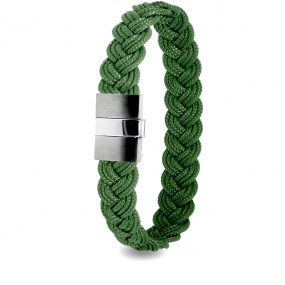 Albanu - Bracelet en Cordon Marin Vert Anglais - 9 mm - Flore - 604TCMACN17